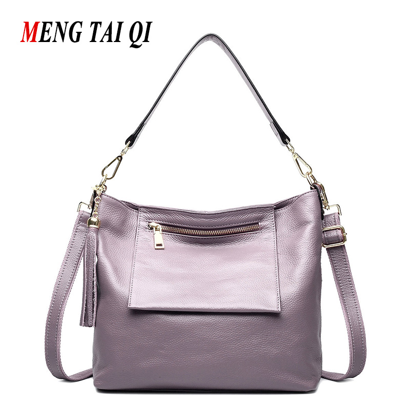 New Women Messenger Bags Genuine Leather Handbags Vintage Crossbody Shoulder Bag Women Bag Cow Leather Ladies Totes Sac A Main 3 zooler brand genuine leather shoulder bags for women casual messenger bag ladies small cowhide leather crossbody bags sac a main
