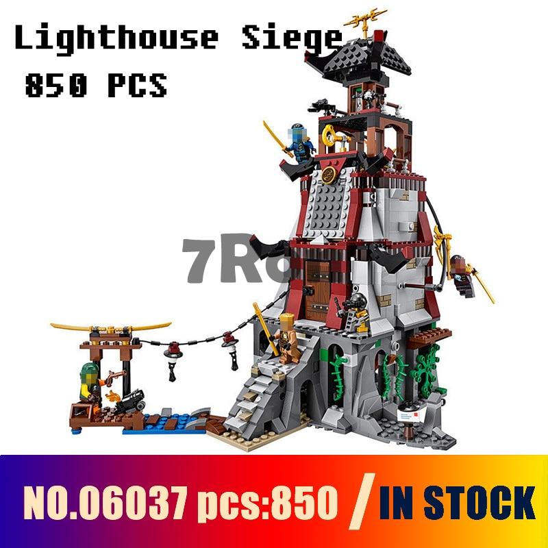 Compatible with lego ninjago 70594 Models building toy 06037 850pcs Ninja Lighthouse Siege Building Blocks toys & hobbies models building toy ninjago garma mecha man figure 06060 977pcs building blocks compatible lego ninjago 70613 toys