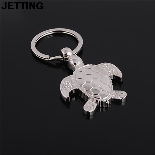 JETTING Cute Sea Turtle Keyring Keychain Classic 3D Pendant Key Chain Creative Gift For Men Women Wholesale 1Pcs