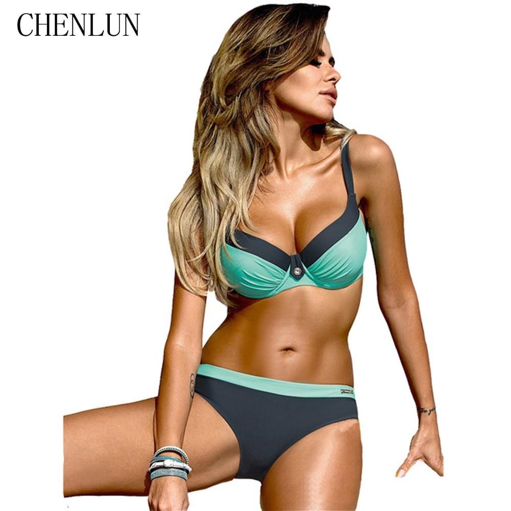 CHENLUN Sexy Bandage Bikini 2018 Cross Patchwork Print ...