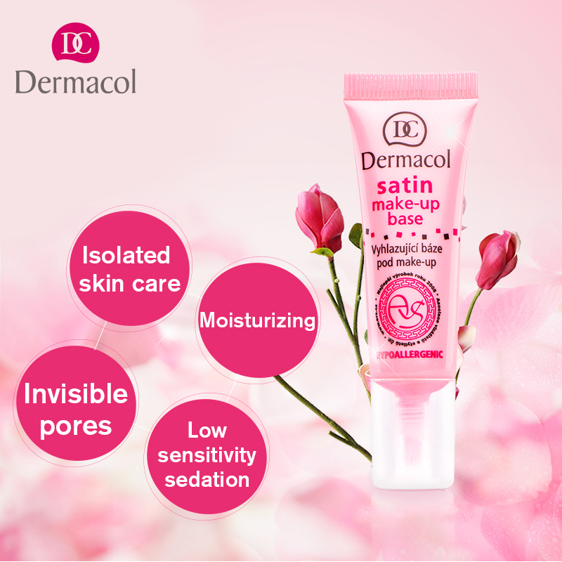 Dermacol Face Primer Matte Base Satin Makeup Base Hydrating Smooth Oil Control Pro Face Foundation Pores Invisible Moisturizer