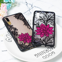 Sexy Lace Case For Huawei P20 lite P9 P10 P8 2017 P20 Pro Flower Case For Huawei Honor 9 8 Mate 10 Pro Y3 Y9 Y5 2018 Clear Cover(China)