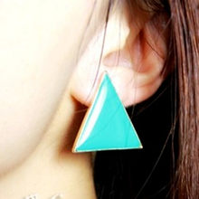 2019 new Girls fashion punk style colorful candy-colored geometric triangle Stud Earrings for Women jewelry accessories(China)