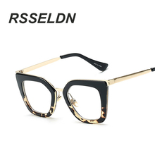 RSSELDN 2017 Gafas Cat Eye Women Eyeglasses Clear Lens Spectacle Frame  Fashion Female Sun Glasses Optical Eyewear