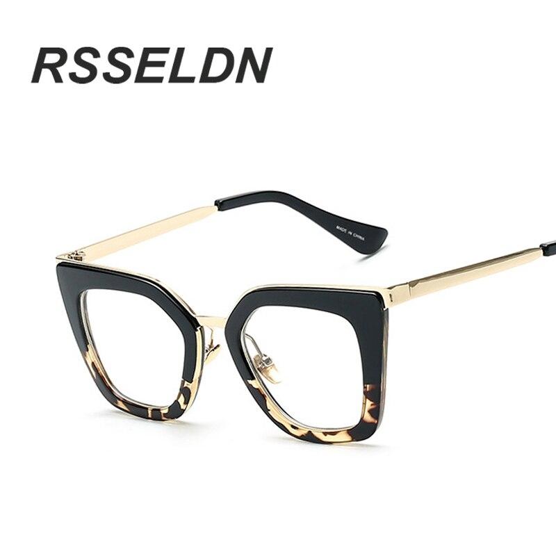 RSSELDN 2017 Gafas Cat Eye Women Eyeglasses Clear Lens Spectacle font b Frame b font Fashion