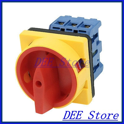 Circuit Control On/Off Rotary Cam Changeover Combination Switch 660V 25A ith 20a 8 screw terminals rotary combination cam switch