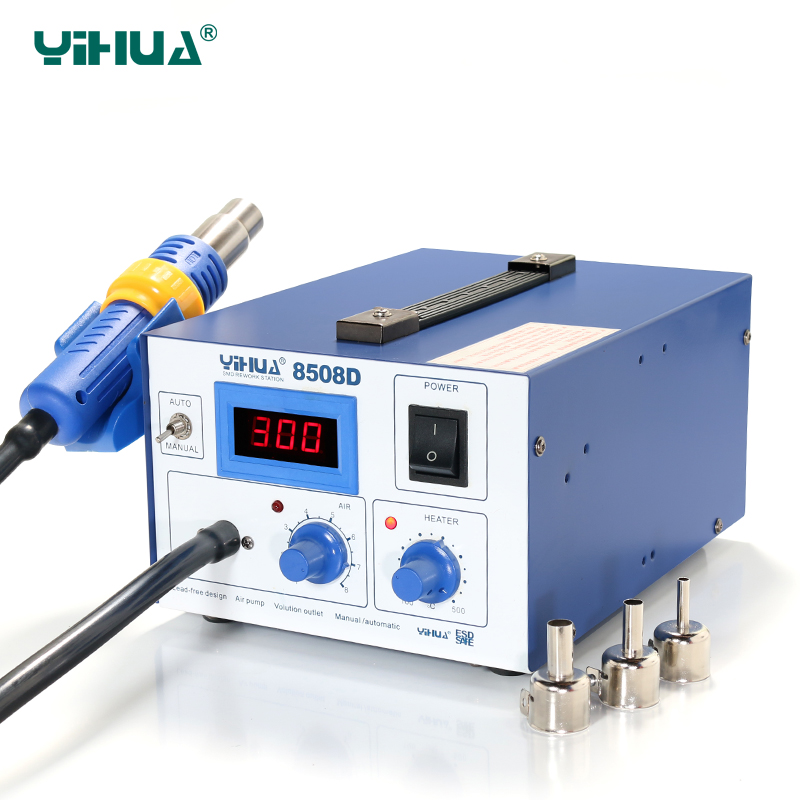 цена на Ferrous- alloy Material YIHUA 8508D IC / PCB Hot-Air Soldering Station for soldering tool
