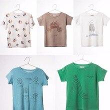 Pré-Commande Milieu De Mars Bobo Choses 2016 Bébé D'été Garçons filles À Manches Courtes T-shirts D'été T-shirts pour enfants Un * Cicishop