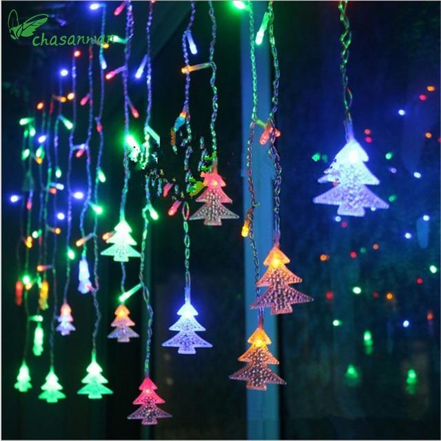 chasanwan 355m 96216led christmas tree hard light pendant new year xmas decorations