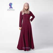 High Quality Abaya Kaftan Elegant Long Sleeve Muslim Dress for Women Turkish Islamic Clothes
