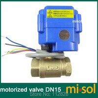 Motorized Valve Brass G1 2 DN15 2 Way CR05 Electrical Valve Motorized Ball Valve