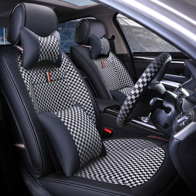 Front + Rear) car seat covers Interior car accessories For fiat ...