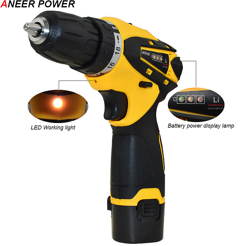 Image 3 - 1.5Ah Battery Capacity Drill 12v Mini Cordless Drill Power Tools Electric Screwdriver Electric Drill Batteries Screwdriver-in Electric Drills from Tools on