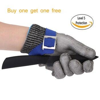 eab83c76b7d79 Haute qualité sécurité coupe preuve protéger gant en acier inoxydable maille  métallique gants de boucher Anti-coupure gants de travail résistant