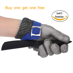 High quality Safety Cut Proof Protect Glove Stainless Steel Metal Mesh Butcher Gloves Anti-cutting Proof Work Gloves