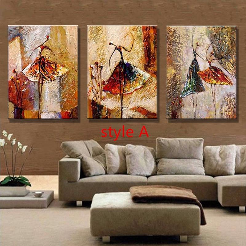 Handpainted Ballet Dancer Oil Paintings Women Dancers