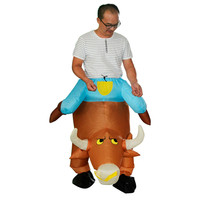 Adult Novelty Ride on Pants Cattle Shape Toys Inflatable Animal Costume Oktoberfest Halloween Party Cosplay Fun Gags Toy