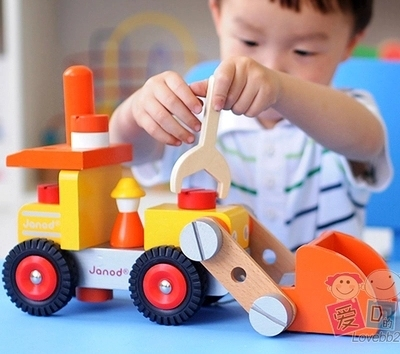 baby wooden toys  for children balloons scale models tool cart excavator screw blocks car wooden toy