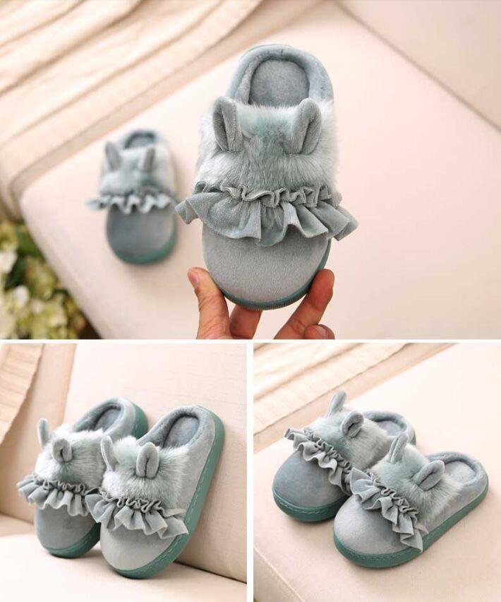 sapatos de algodão engraçado chinelo princesa sapatos para meninas do bebê