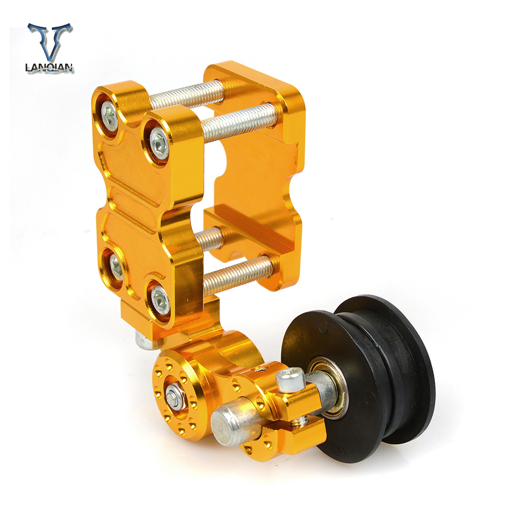 Universal CNC motorcycle chain tensioner sprocket/pulley/chainsaw For yamaha ybr 125 yzf-r15 XT660 xt660x xt660r xt660z