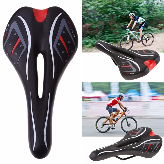PU foam Cycling Front Saddle Seat Cover Cushion MTB Bike Bicycle Soft Hollow Bicycle Seat Cushion Pad for Long time Riding