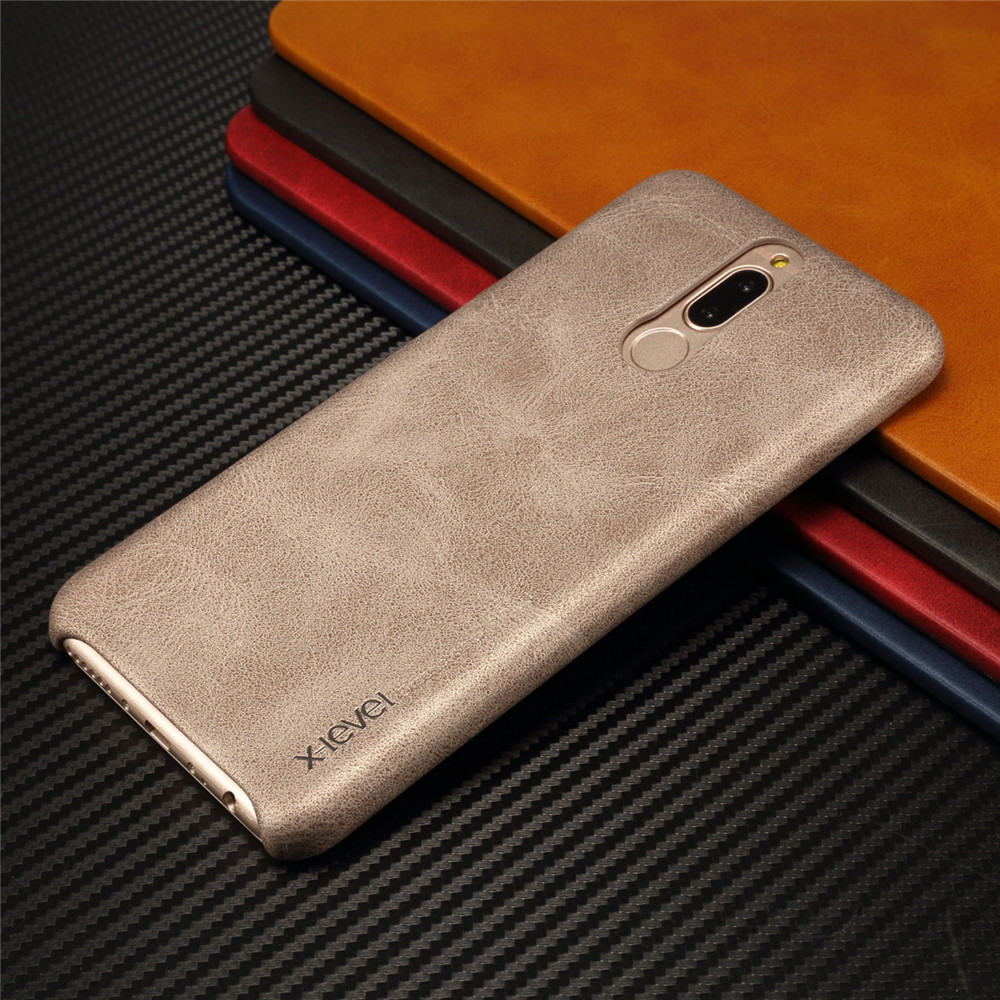 best cheap 56b63 6d9a9 US $6.98 |Thin back cover case For huawei mate 10 lite honor 9i nova 2i  leather cases and covers Luxury brand x level with retail package-in Fitted  ...