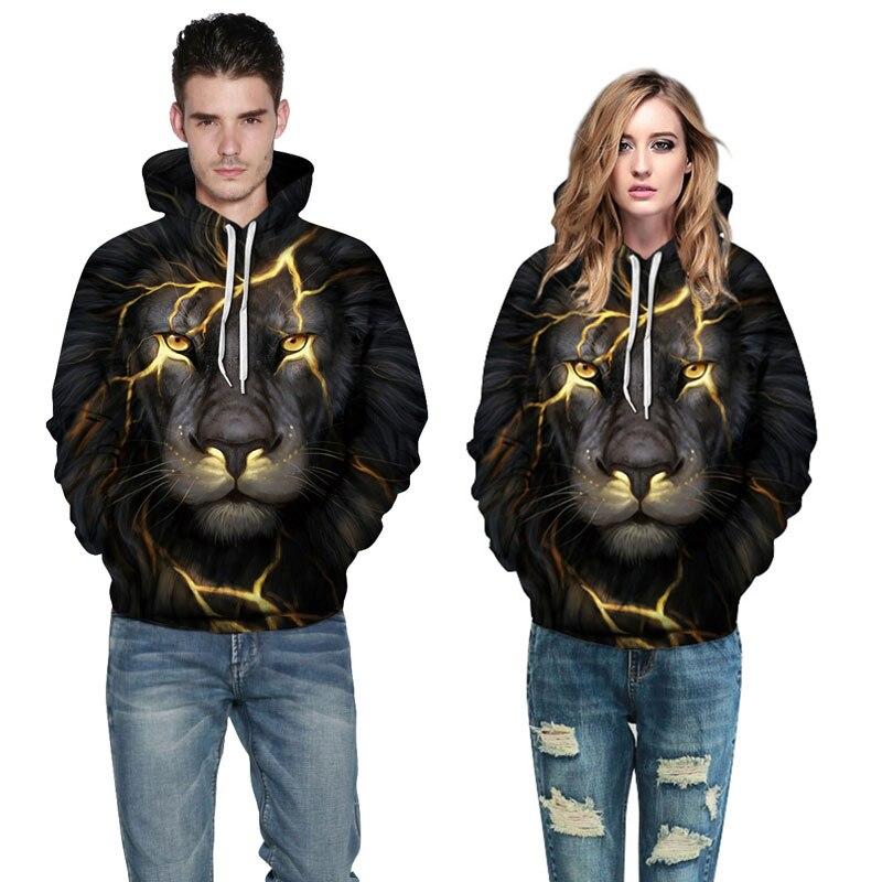 Mr.1991INC New Fashion Men/Women 3d Sweatshirts Print Golden Lightning Lion Hooded Hoodies Thin Hoody Tracksuits Tops New Fashion Men/Women 3d Sweatshirts of a Lightning Lion HTB1lcITdIhmZKJjSZFPq6A5 XXas