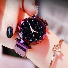 Fashion Women Waterproof Watches Luxury Ladies Magnetic Clock Mesh Steel Female Wristwatch relogio feminino zegarek dasmki