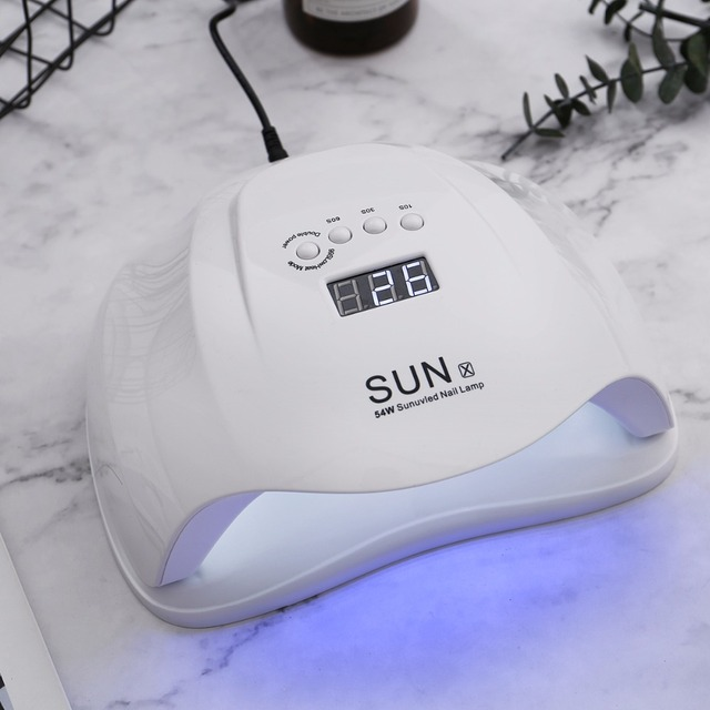 Sun X 54 W Nail Gel Dryer Machine UV LED Lamp For Nail Dryer Professional White Light Polish Machine Fast Dryer Nail Art Tools