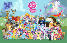 SHENGYONGBAO Vinyl Custom Photography Backdrops Props My Little Pony theme Photo Studio Background ML-01