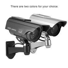 Dummy Camera Solar Battery Powered Flicker Blink LED Fake Indoor Outdoor Surveillance Security Camera Bullet CCTV Camera