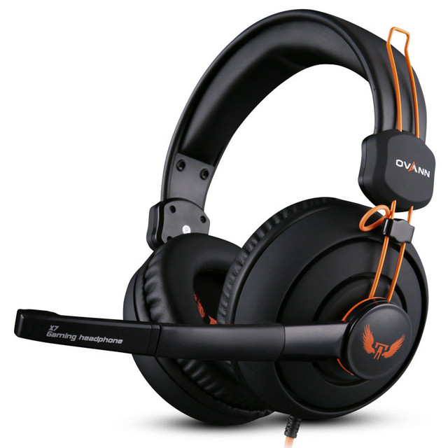 Auriculares de la computadora Auriculares Diadema X7 Ovann Estéreo Surround Gaming Headset Juego de Auriculares de 3.5mm con Control de Volumen del Micrófono