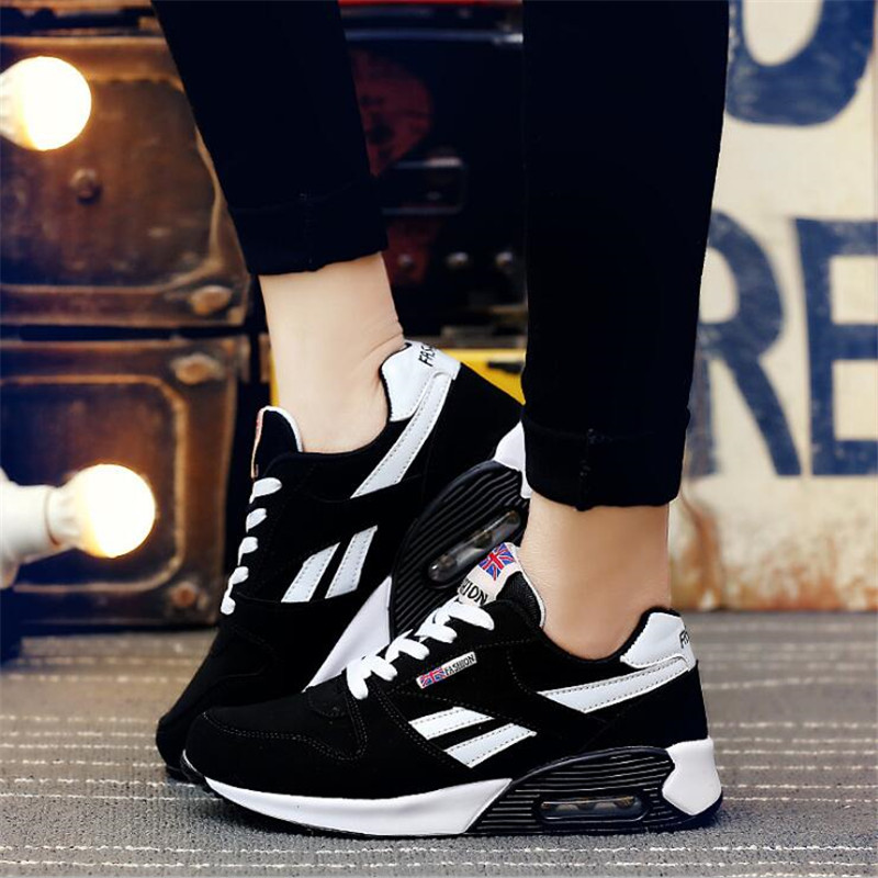 2018 Spring New Designer Wedges multiple colour Platform Sneakers Women