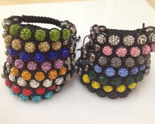 10PCS/ LOT valentine gift  Shamballa Bracelets Women DIY Bracelet  Ball Beads Pulseras Pulseira Feminina Best Gifts SB7142A