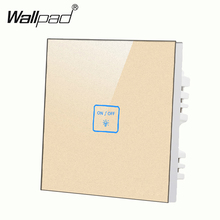 New 1 gang 2 way Gold LED touch screen wall switch Customize words Uk Standard switch,touch light switch Free Shipping new arrival 2 gangs 1 way crystal glass led black diy touch light wall switch touch switch free customize words free shipping