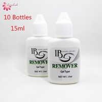 Gratis Verzending Groothandel Korea ik beauty IB Clear Gel Remover Voor Individuele Wimper Extensions Lijm uit Korea 10 flessen/lot 15 ml