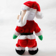 Santa Claus dance with sound toys Cute kids lovely Christmas electric toy  funny navidad christmas decorations