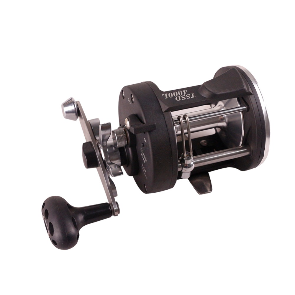 Baitcasting Fishing Wheel 3.8:1 Trolling Drum Reels  Fishing Sea Coil Baitcasting Reel pesca metal round jigging reel 6 1 bearing saltwater trolling drum reels right hand fishing sea coil baitcasting reel