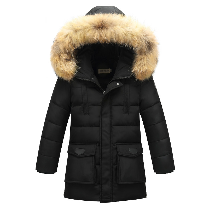 New Children's Down Jacket Korean Boy Down Jacket In The Long Section Baby Down Jacket Large Children's Clothing 7-13T down jacket jaxx пуховики в стиле пальто