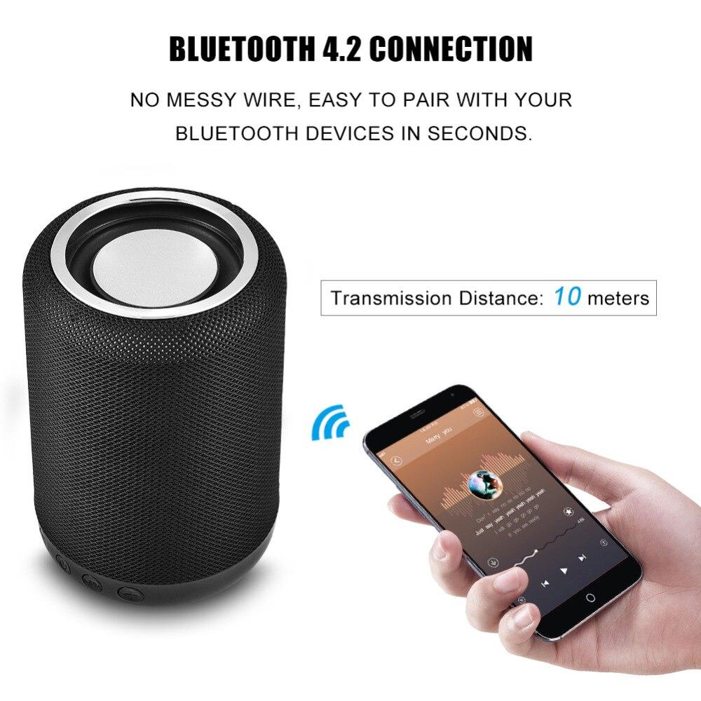Cylinder H34 Portable Bluetooth Wireless Speaker Deep Bass HiFi 3D ...