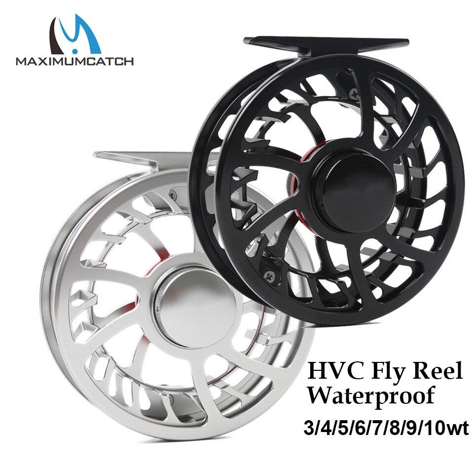Maximumcatch Super Light HVC 3 10wt Waterproof Fly Fishing Reel CNC Machine Cut Aluminum Fresh and