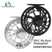 Maximumcatch Super Light HVC 3-10wt Waterproof  Fly Fishing Reel CNC Machine Cut Aluminum Fresh and Saltwater Fishing Reel