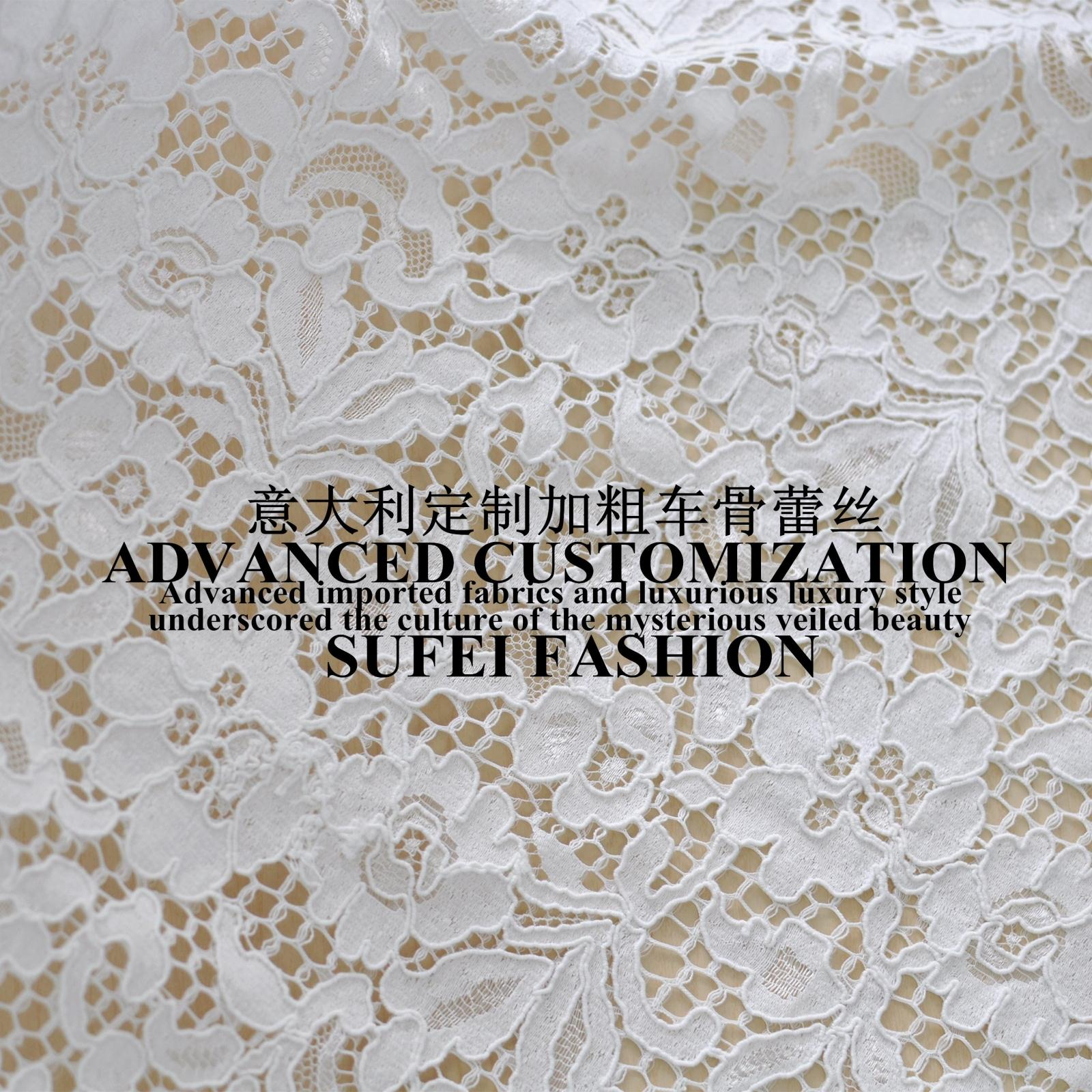 150 150cm delicated eyelash white cotton polyester lace dress clothes blouse fabric S212