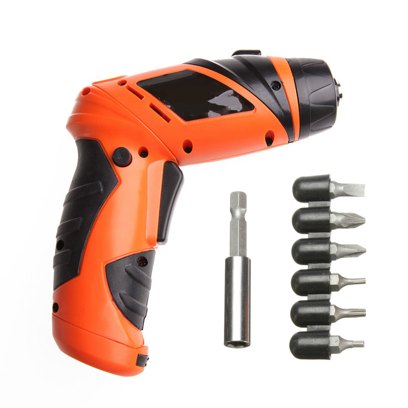 цена на 6V Household electric screwdriver/Driver Cordless sleeve Power Tools cordless drill Portable electric drill w/ 7 x Screw heads