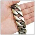 "8.46""*26mm New Arrive Biker Jewelry Stainless Steel Ancient Bronze Plating Curb Chain Men's Boy's Bracelet Bangle Huge Heavy"