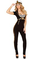 3pcs Black Navy Sailor Costume Women Sexy Halloween Costumes Fantasias Eroticas Party Game Carnival Costumes Pant