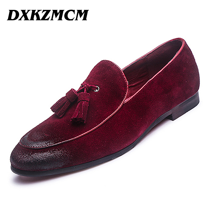 DXKZMCM Men Oxfords Leather Pointed Toe Oxfords Business Dress Shoes Formal Oxford Shoes For Men Flats Wedding Shoes new brush oxford shoes for men slip on pointed toe fringe oxfords men shoes leather causal formal men dress shoes zapatos hombre