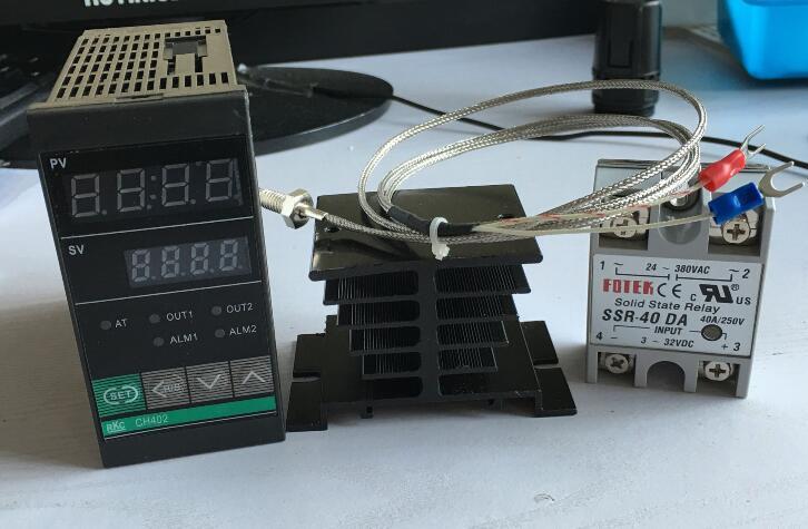 RKC temperature controller thermostat CH402 FK02-V*AN-NN +2M thermocouple K +SSR40DA+ Heat sink k v gortners karalienes zvērests