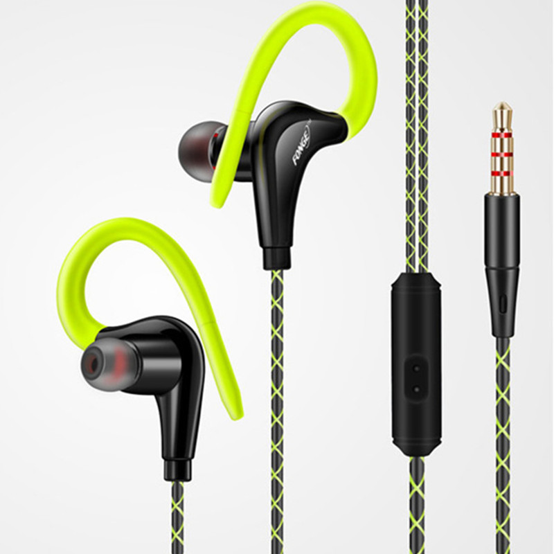 Sport Earphone Headphones Waterproof handsfree In-ear Headset With Mic Headphone For Xiaomi iPhone 5 6All Smartphone