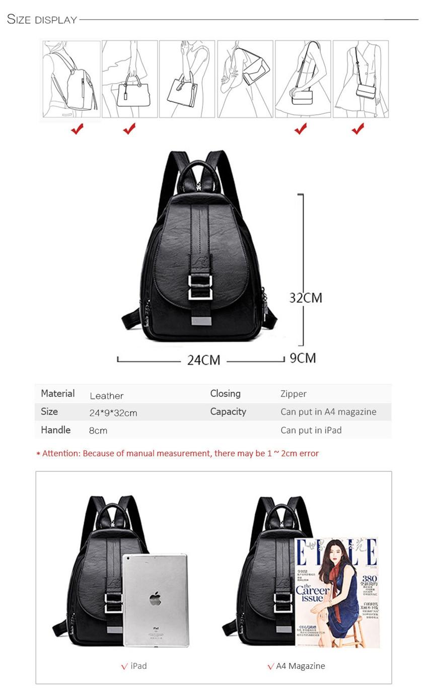 HTB1lcKaXUjrK1RkHFNRq6ySvpXaJ New 2018 Women Leather Backpacks Vintage Shoulder Bag Winter Female Backpack Ladies Travel Backpack Mochila School Bags For Girl